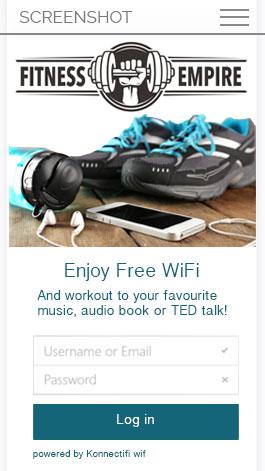 Free WiFi Gym Splash